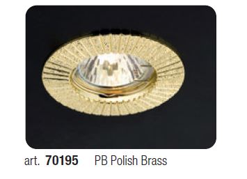 FARETTO CON DEC.POLISH BRASS MT101PB