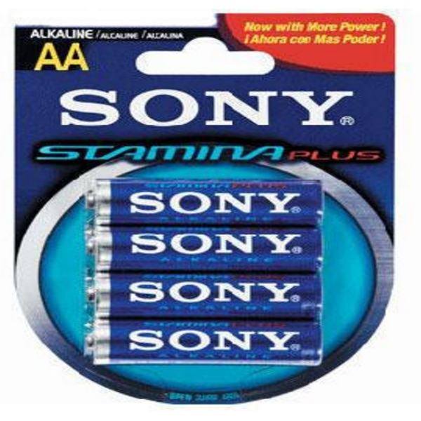 BLISTER 4 BATTERIE STILO ALKALINA SONY AM3