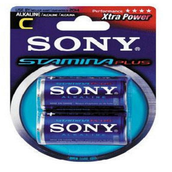 BLISTER 2 BATTERIE MEZZA TORCIA 1/2 ALKALINA SONY AM2 .