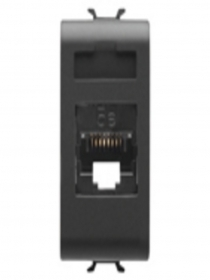 CONNETTORE RJ45 1M CAT.5E UTP NERO
