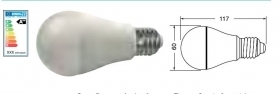 LAMP.LED E27 9.5W B.NAT.220VCA