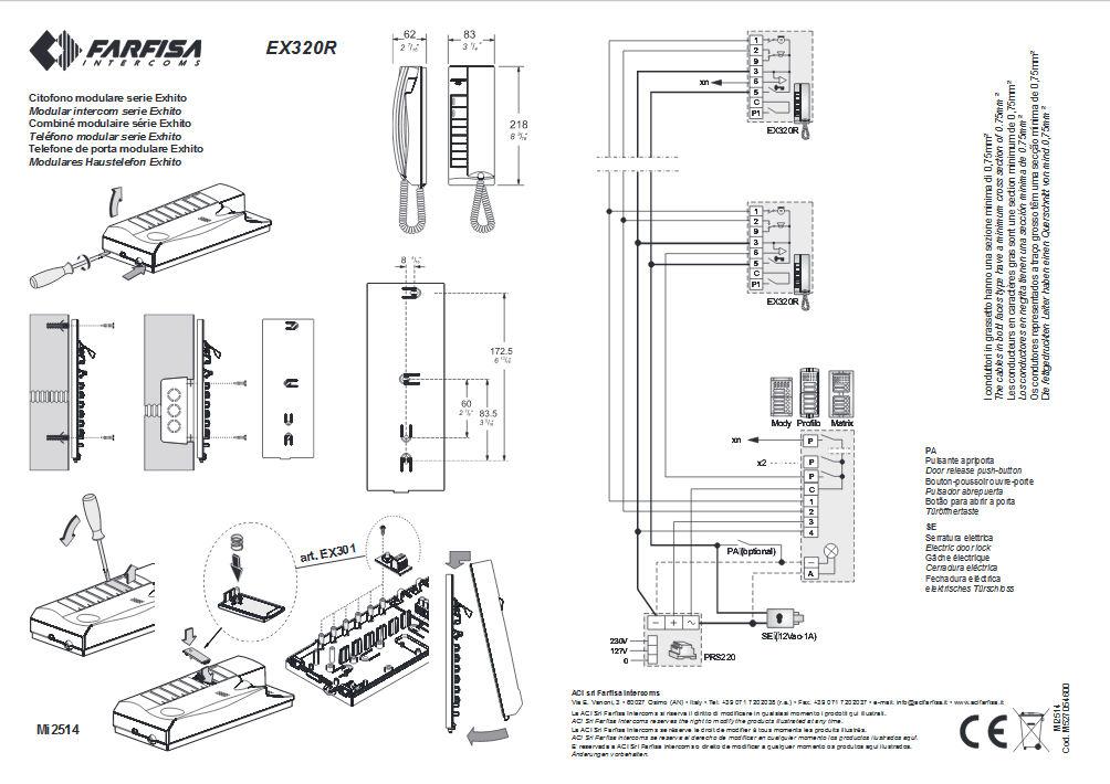 Schema Elettrico Per Citofono : Citofono universale farfisa ex r ebay